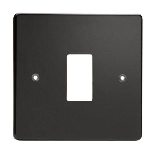 Varilight XDLPG1 PowerGrid Premium Black 1 Gang Grid Plate (Single Plate)